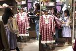 陶虹带女儿买打折衣服