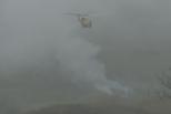 无人机拍摄科比直升飞机坠机现场