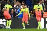英超-曼城2-0 席尔瓦破门兴奋庆祝