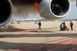 韩亚航空空客引擎突发着火 延误4小时