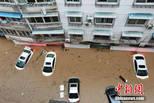 安徽歙县大面积内涝 水深没过车顶