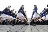 俄罗斯胜利日阅兵彩排满屏大长腿