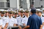 日本海上自卫队访问珍珠港 参观纪念馆