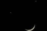今晚看金星水星\