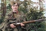 二战苏军女狙击手:\