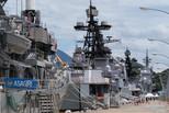 俄海军舰队访日 和日本进行联合演习