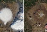 NASA公布冰岛一座冰川30年前旧照