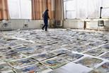 美术统考阅卷现场 万张考卷平铺