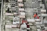 香港市民清明扫墓 祭扫场面较往年冷清