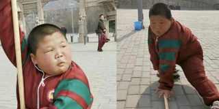 11岁男孩秀武艺走红 鼻孔抢镜被赞表情包