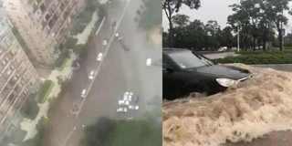 一夜暴雨昆明主城被淹 多路段交通中断