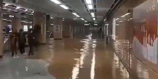 厦门地铁吕厝站突发地陷 站内被水淹没