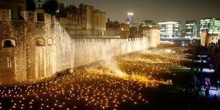 纪念一战结束百年 伦敦塔点燃万支火把