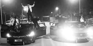 疫情期间深夜飙车 警方:查获10人拘3人