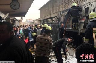 埃及火車站致28死火災 禍起2司機吵架