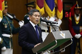 韩国新任防长正式就职:强调韩美同盟