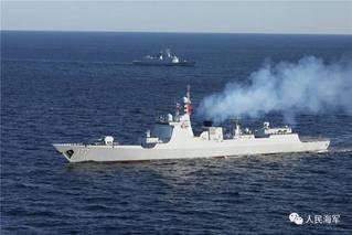 万吨大驱参演 直击中俄海上联合军演现场
