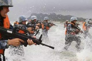 在这重要时刻 中国海军陆战队扩编成军