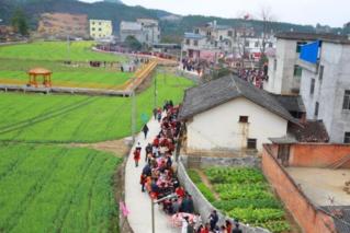 广西农村摆两百余桌开年宴 千人共享