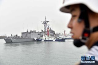 來華參加多國海軍活動 外國軍艦抵青島