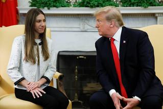 特朗普接见瓜伊多妻子:美国支持你们