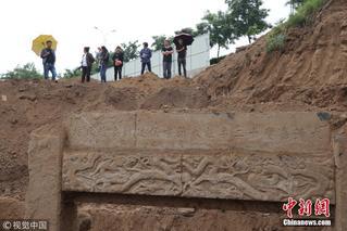 山东滨州建筑工地挖出清代贞节牌坊