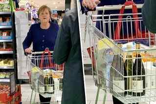 对抗疫情有信心 默克尔现身超市购物