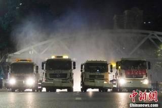 郑州进行全市集中防疫消杀