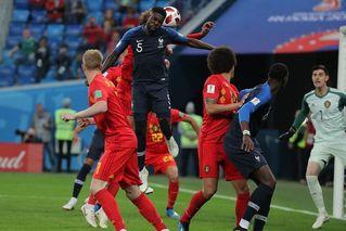 乌姆蒂蒂头球破门 法国1-0比利时