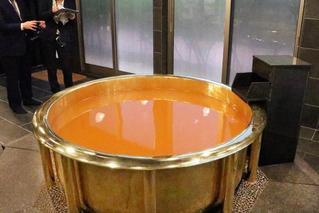 日本推出黄金浴缸 价格每小时300元
