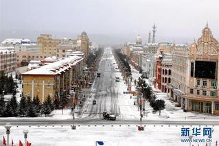中国最北端城市谷雨节气迎来大雪