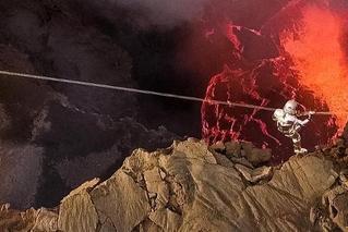 巴西女子成横跨最大永久熔岩湖第一人