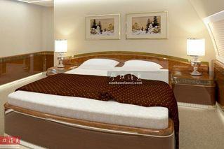 造价5亿美元的普京专机内景:带双人床