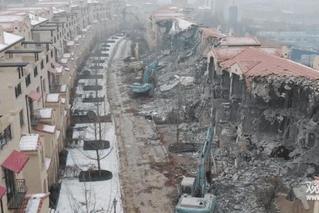 石家庄拆除24栋违建别墅 市领导坐镇