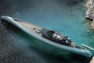 荷兰设计超级豪华游艇 外形似古独木舟