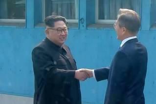 历史性握手!朝韩首脑会晤现场