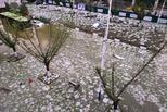 冰雹过后 贵州街道一片狼藉