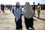 为重返家园,巴勒斯坦女性站抗议前沿